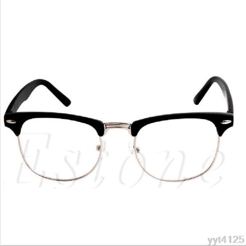 d01de092288 2019 Fashion Metal Half Frame Glasses Frame Woman Men Reading Glass UV  Protection Clear Lens Computer Fashoin NEW From Junemay