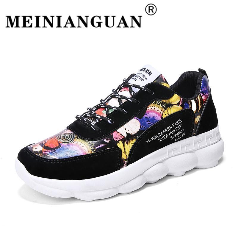 448f1615 Compre Hombres Coloridos Zapatillas Impresas Zapatillas De Deporte De Otoño  Invierno Gym Night Runn Shoes Para Hombres Al Aire Libre De Fondo Grueso  Grueso ...
