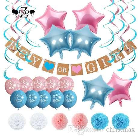 Zljq Gender Reveal Party Pack Baby Shower Decorations Boy Or Girl