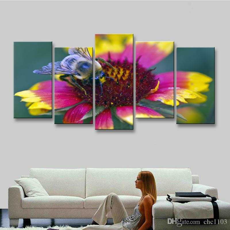 high-definition print butterfly canvas painting poster and wall art living room picture B-076
