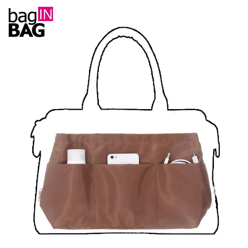 Coffee Purse Insert Bag Organizer Fit for Brand Trapezoid Tote Handbag Or  Business Commuter Handbag Cosmetic Bags   Cases Cheap Cosmetic Bags   Cases  Coffee ... ef8a1dbd18048