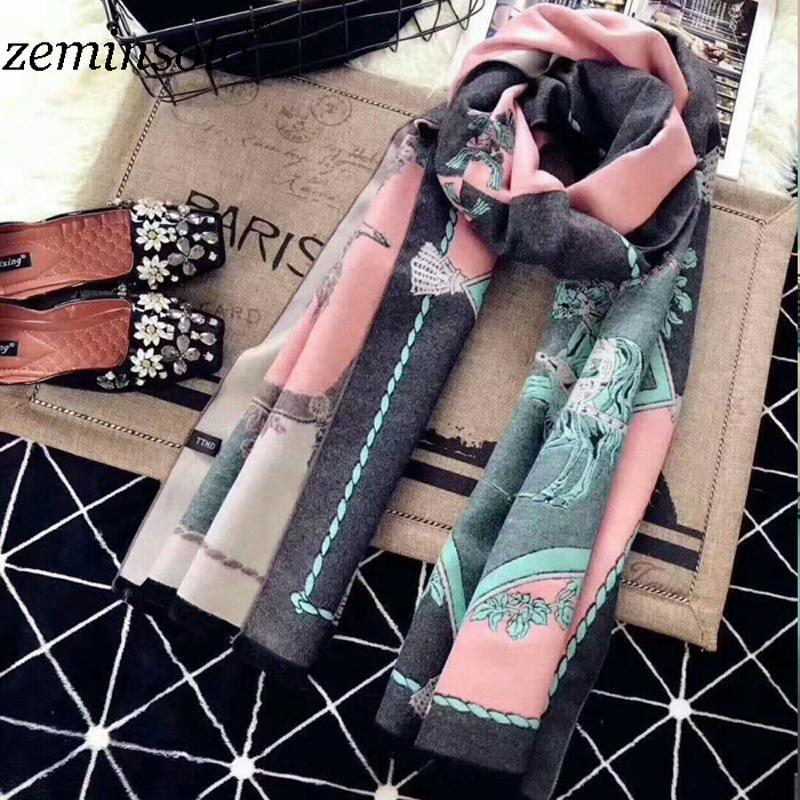 Acheter Za Hiver Vintage Écharpe Pour Femmes Wrap Bandana Imprimer Abeille  Couverture Femmes Lady Foulards Châle Cape Cachemire Écharpe Solide Hijab  Étoles ... adf4e8dc03c