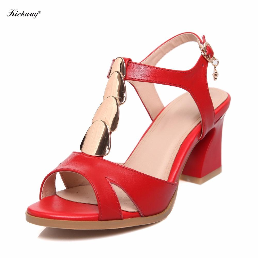 4e4a0f7673 Kickway Women Ankle Strap Sandal Summer Fish Mouth Sandals Shoes Plus Size  33 44 Mid Heel Sandals Drop Shipping Wholesale 8370 5 Chaco Sandals Jack  Rogers ...
