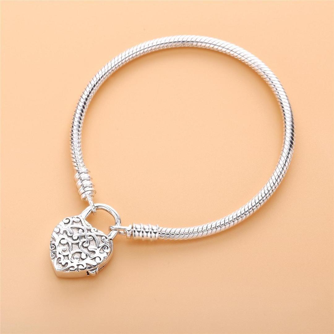 cf7f5d63a 2019 Newest 925 Sterling Silver Original Limited Edition Flourishing Heart  Padlock Bangle & Bracelet Charm Jewelry From Baozii, $25.64 | DHgate.Com