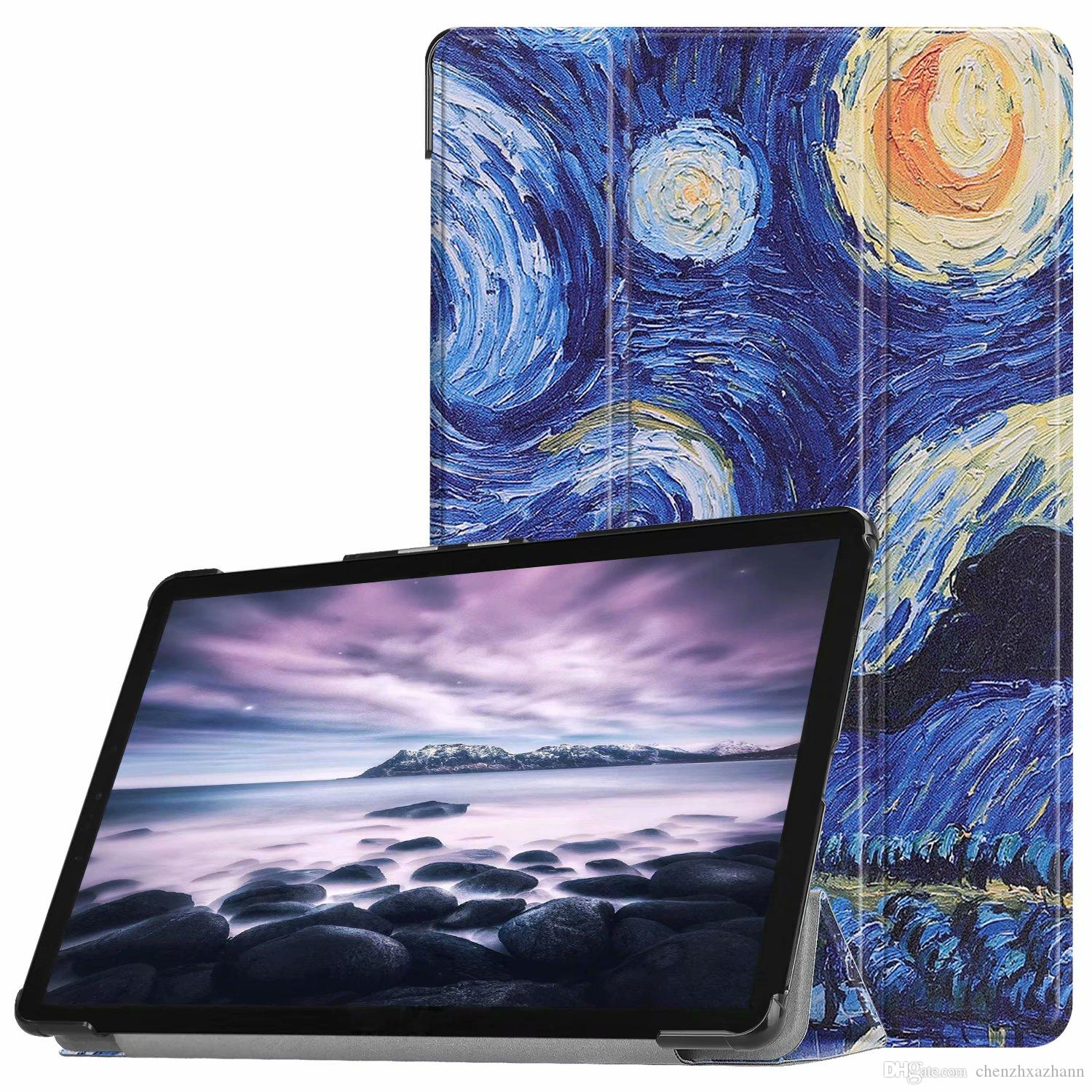 Smart Cover Case For Samsung Galaxy Tab S4 10 5 T830 T835 T837 Sm T830 Sm T835 Sm T837 Printed Folio Stand Pu Leather Pen Tablet Cases 10 Bags From
