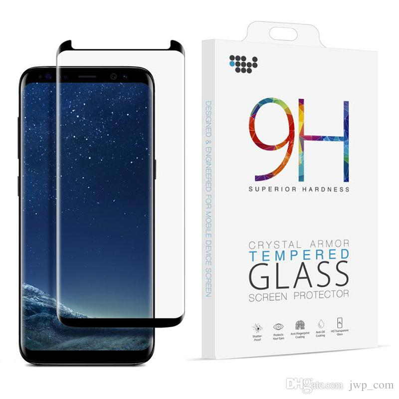 new arrival 8f342 387f8 Case Friendly Screen Protector For Galaxy S8 Note 8 3D Curved Tempered  Glass Full Coverage 9H Hardness Filmfor Samsung Note8 S8