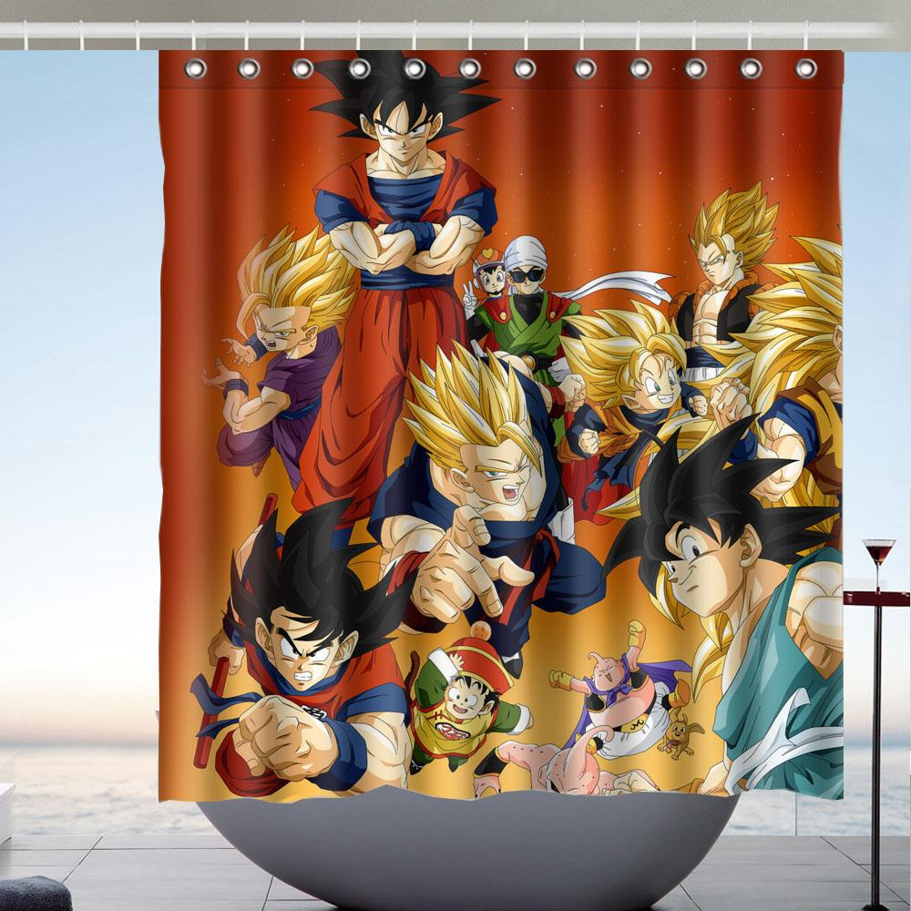 2019 Dragon Ball Z 02 High Quality Fabric Bathroom Shower Curtain 66 X 72 Inches From Littleman913 402