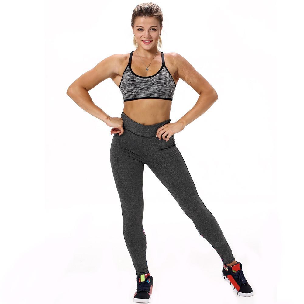 Fitness Sports Pantalon Pantalons Yoga Athletic Leggings Élasticité Taille Couleur Solide Haute Femmes Sexy De Running Sport Gym Owy0vmnN8P