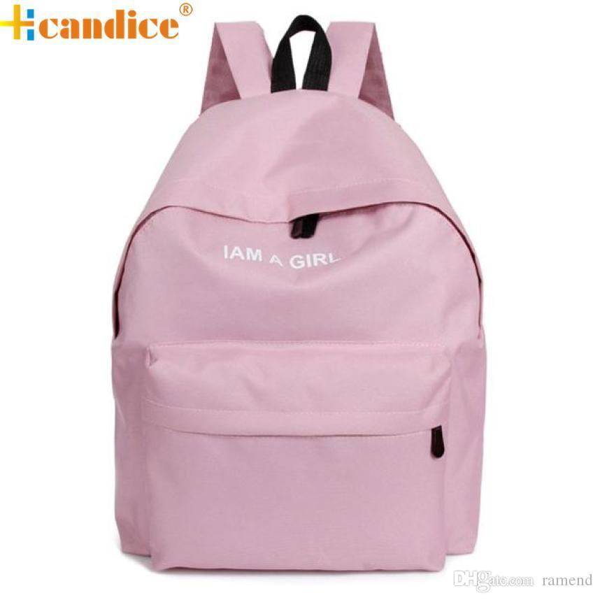 Wholesale Best Gift Hcandice New Unisex Boys Girls Canvas Rucksack Backpack  School Book Shoulder Bag Drop Ship Bea668 Backpacks For Teens Cheap  Backpacks ... fee83ee4ac665