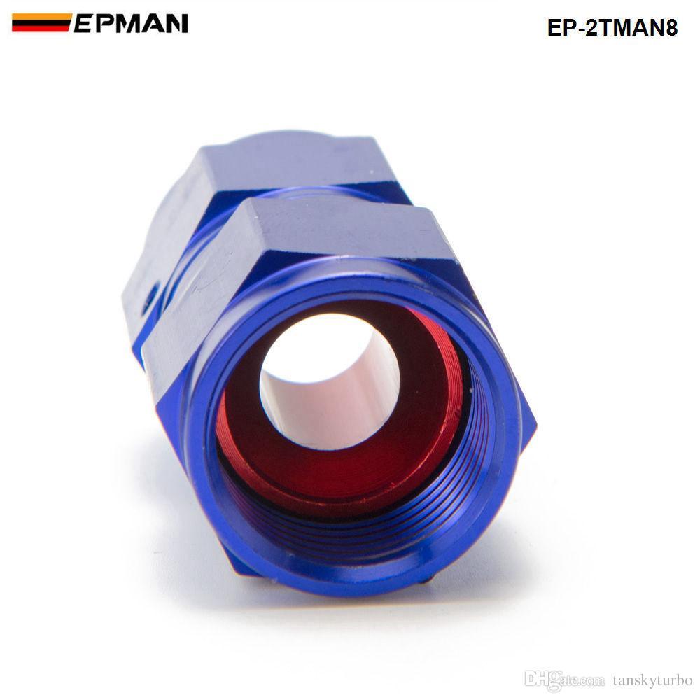 EPMAN - AN8 Fuel Oil Swivel Fitting Aluminum Hose End Adaptor 2 Side Female Fitting EP-2TMAN8