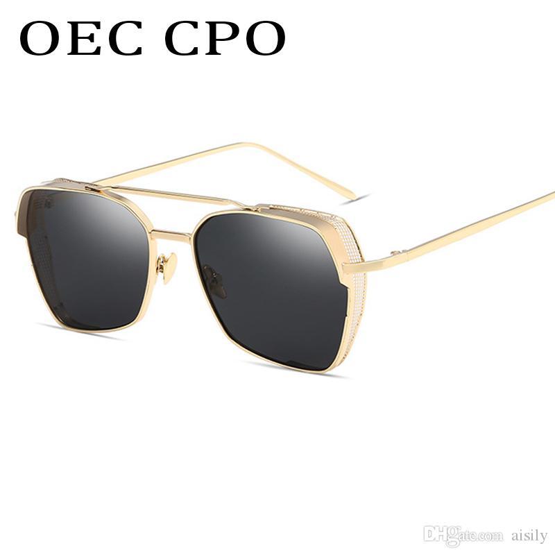 ad8cd0a6a8 Compre Marca Mujeres Hombres Ronda Steam Punk Sunglasses Conducción Gafas  De Sol Metal Frame Vintage Sun Glasses Uv400 L20 A $12.99 Del Aisily |  Dhgate.Com