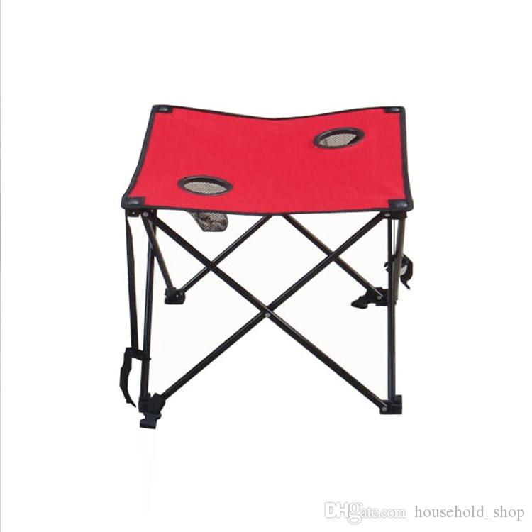 Beach Table 2018 Portable Folding Oxford Stool Outdoor Camping Barbecue Square Table Leisure Steel Tube Table