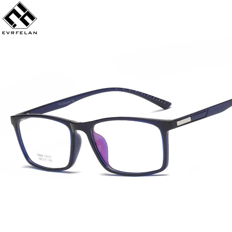 ced490b2fe4 Evrfelan Eyeglasses Frames Glasses Trendy Unisex Men Women Eye Wear ...
