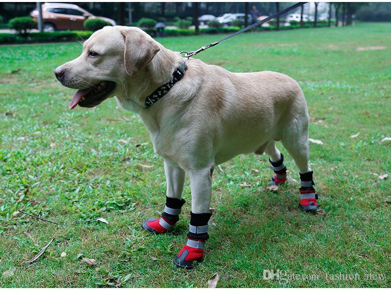 Grandi cani di alta qualità forniture grandi cani stivali impermeabili accessori antiscivolo Pet prodotti S M L XL / set spedizione gratuita