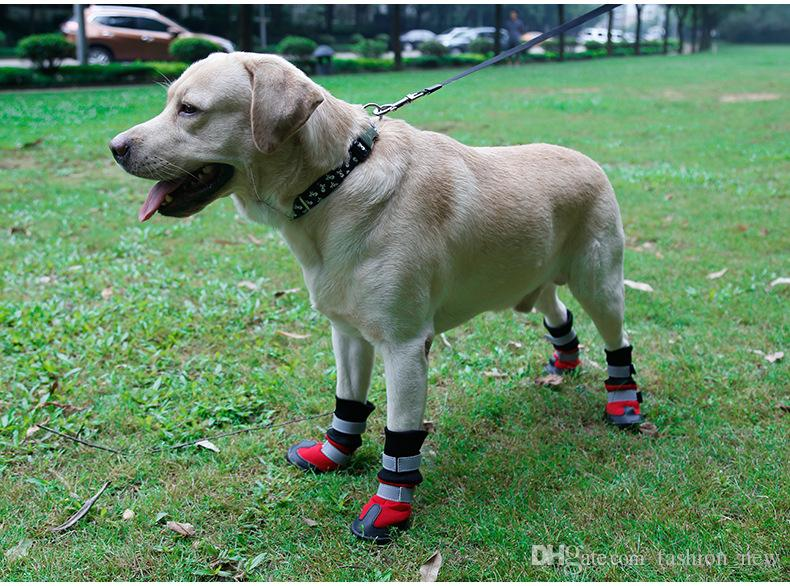 High quality Large Dog shoes Supplies Big Dogs Boots Waterproof Non-slip Accessories Pet Products S M L XL