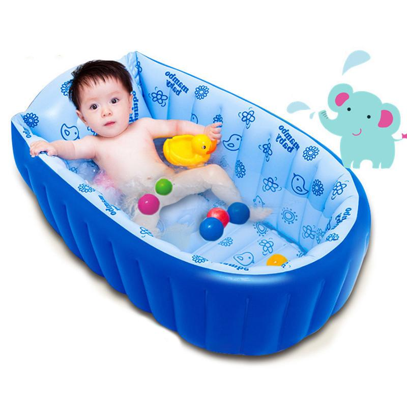 2018 Portable Inflatable Baby Bath Kids Bathtub Children Tub Baby ...