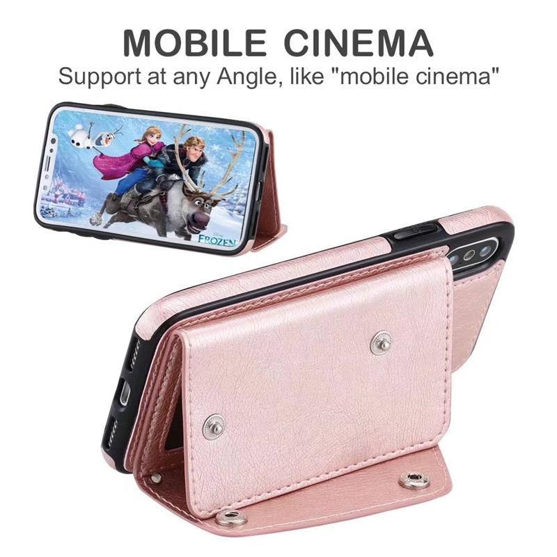 ID 카드 슬롯 지갑 가죽 돌아 가기 케이스 아이폰 12 2020 11 프로 맥스 XR XS MAX X 8 7 6 갤럭시 S20 노트 20 현금 자석 커버 홀더 지갑