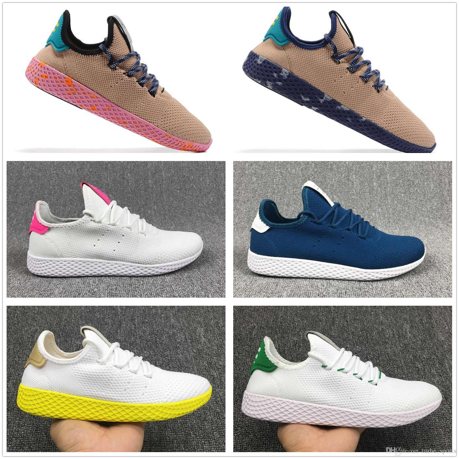 5df6ecfe3 2018 Scarpe Chaussures Stan Smith x Pharrell Williams Tenis HU Primeknit  hombres mujeres Running Shoes Sneaker transpirable Runner deportes zapatos