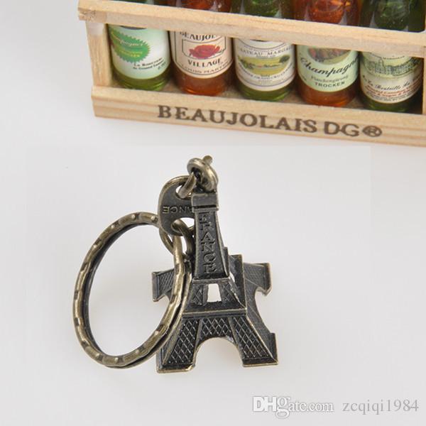 New Cool Retro Francia Paris Torre Eiffel Modelo Lindo Mini Bolsa de Coche Llavero Llavero Llavero Para Unisex Amante