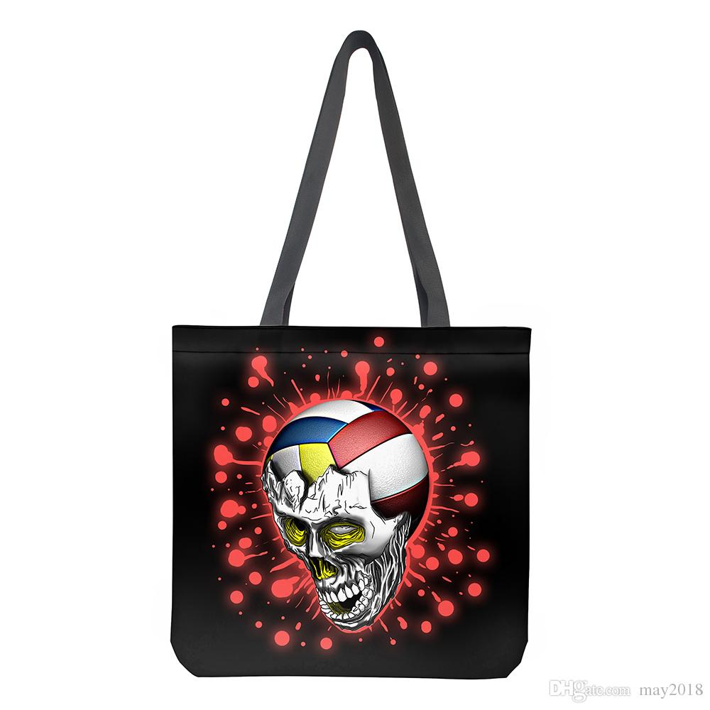 Cheap Wholesale China Factory Custom Logo Printing New Design Cool Skull  Shopping Tote Bag For Women Fabric Shopping Bags Handbags From May2018 f277e7696