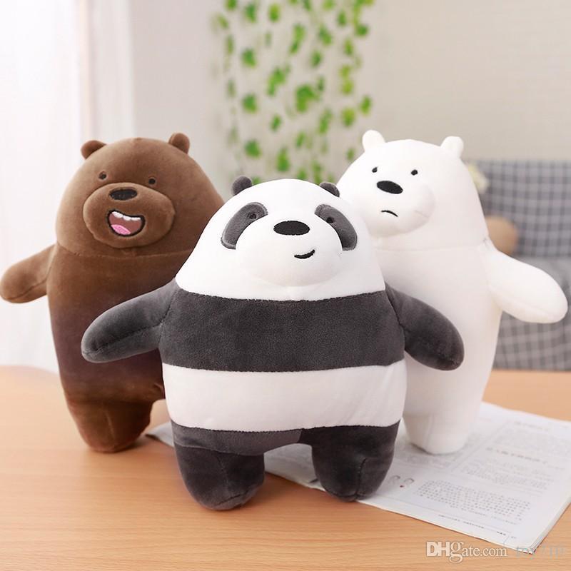 Acquista 25 cm siamo orsi nudi orso cartone animato farcito grizzly