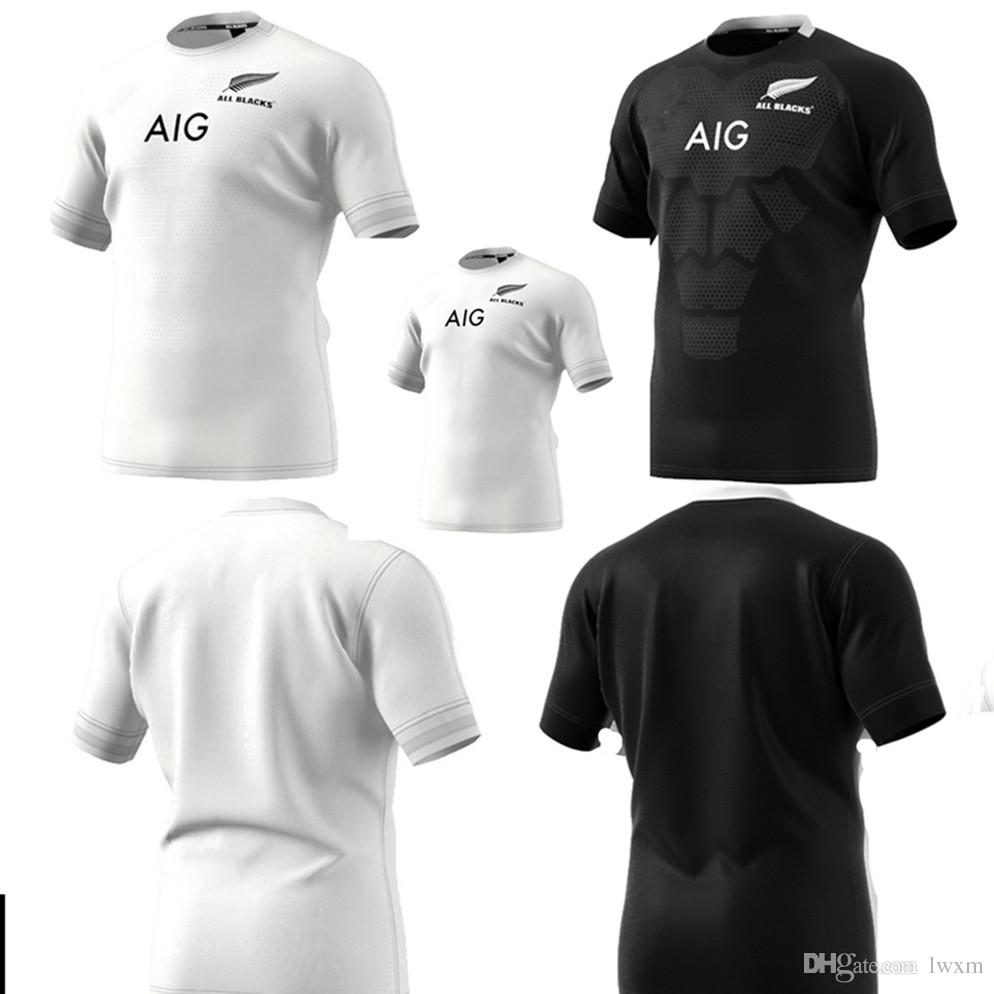 adidas New Zealand All Blacks Rugby Shirt 2018 2019 Junior