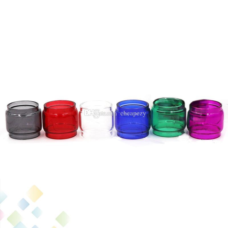 Renkli TFV12 Prens Tankı 8 ml Genişletilmiş Pyrex Cam Tüpler Şişman Boy 7 Renkler Cam Tüp Yedek Kollu Ecig DHL Ücretsiz