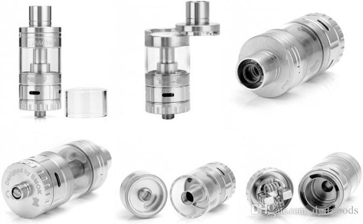 TF RDTA Tank 5ML 24.5mm Side Airflow Slots Direct to coil Rebuildable Tank S2 Deck Dual Post Allen Key Screwdriver