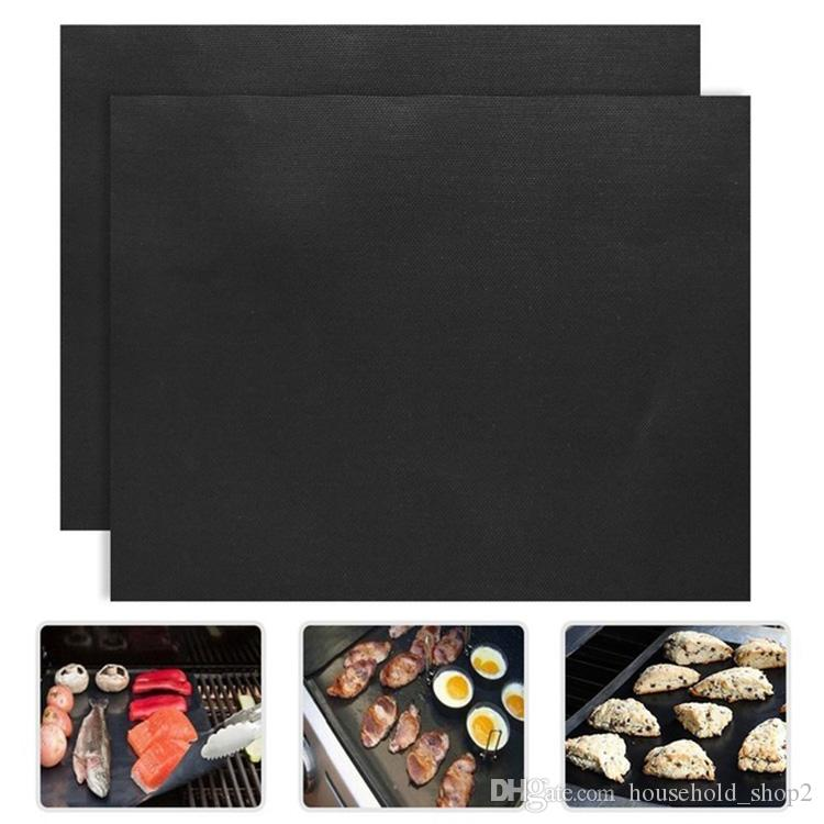 Non-stick BBQ Grill Mat home outdoor picnic Barbecue Baking tools Reusable Teflon Cooking Sheets 40*33cm BBQ mats