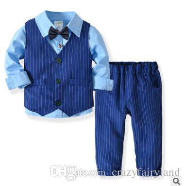c64933748 2019 Baby Boys Vest Suit Outfits Sets Formal Clothes Winter Boys ...