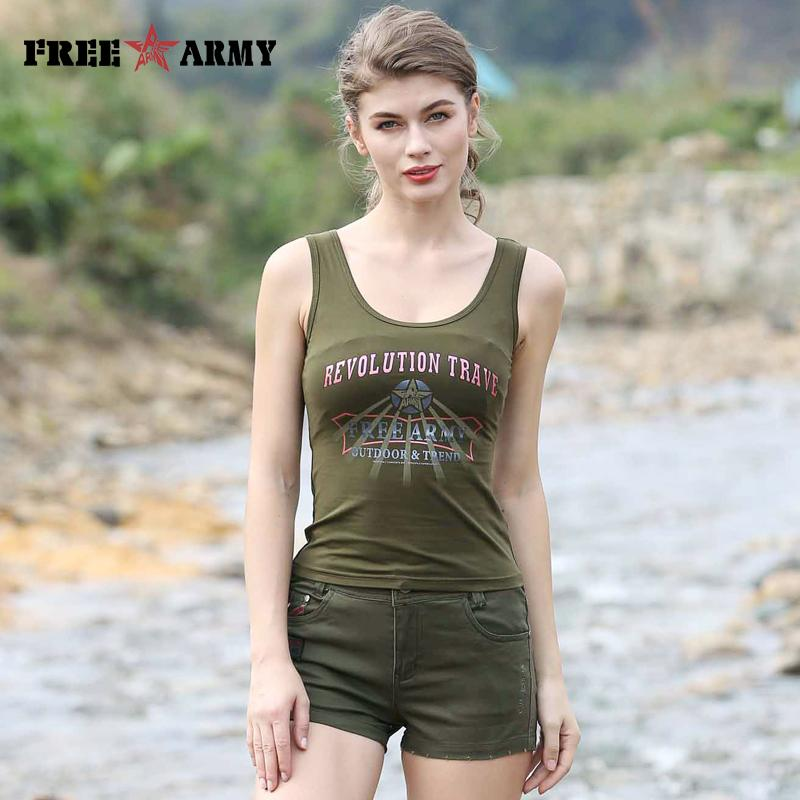 796e6d4e1479a 2019 Summer Vest Army Green Sleeveless Women Round Neck Vests 2017 Hot New  Ladies Coat Shirt Dry Camp Tees Casual Tank Tops GS 8395A From  Qualityclothes