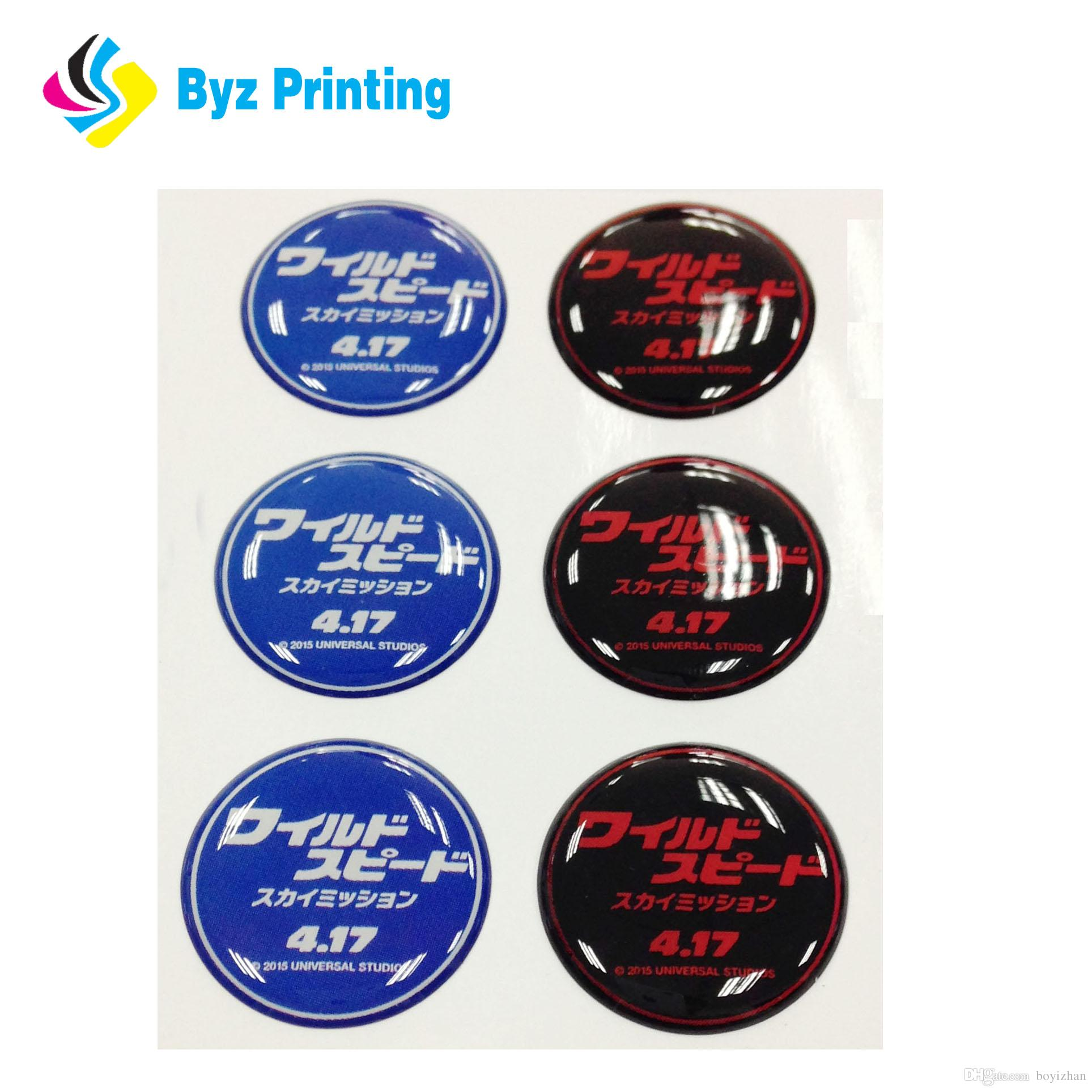 Top quality environmental printed epoxy resin stickercustom epoxy sticker custom dome sticker