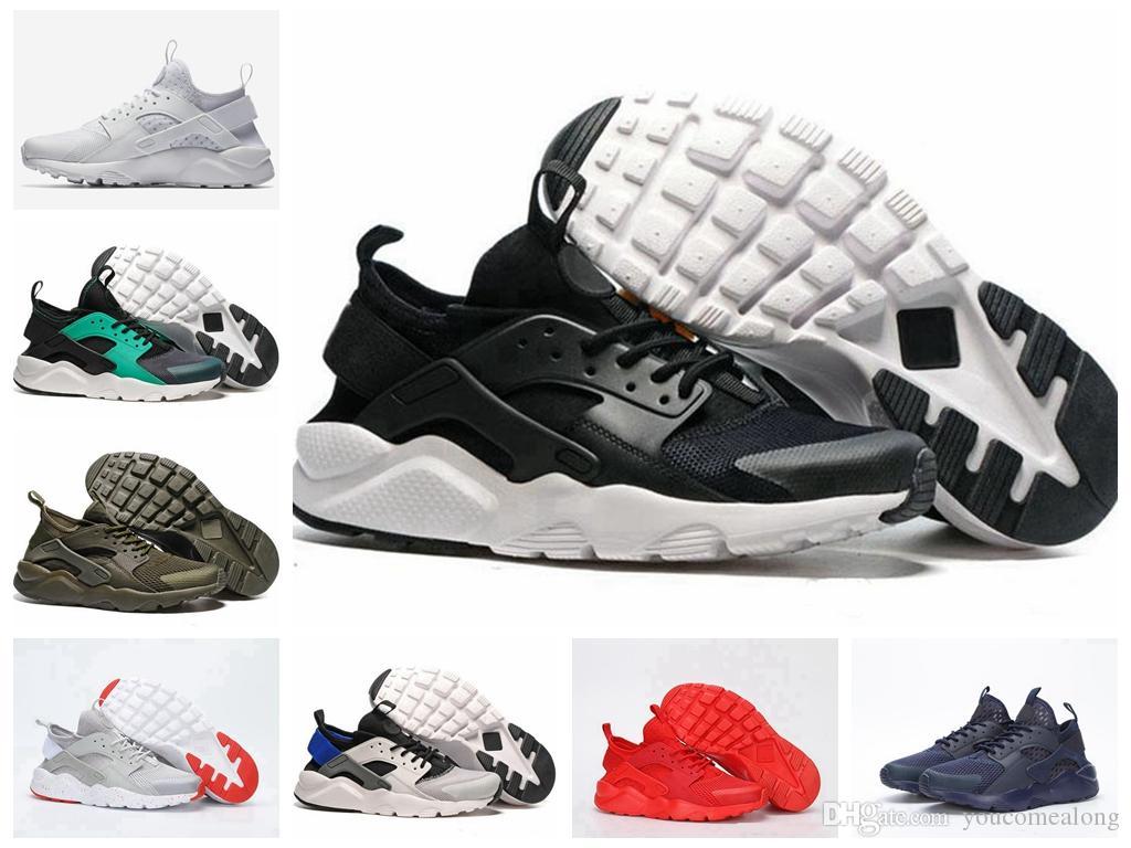 newest 0795c 599c2 Großhandel Nike Huaraches 4 Iv Huarache Großhandel Laufschuhe Rabatt Sport  Turnschuhe Frauen Männer Günstige Kausal Sneaker Top Neue Outdoor Schuhe N  5 2 ...