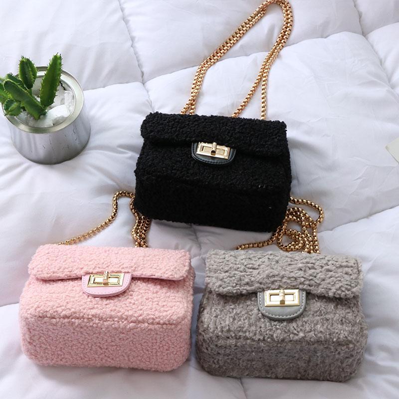Fashion Plush Women Messenger Bags Lambswool Faux Fur Shoulder Bag Chain  Pink White Winter Party Bags Clutch Pouch Purse BA439 Handbags On Sale  Shoulder ... 9c36069391785