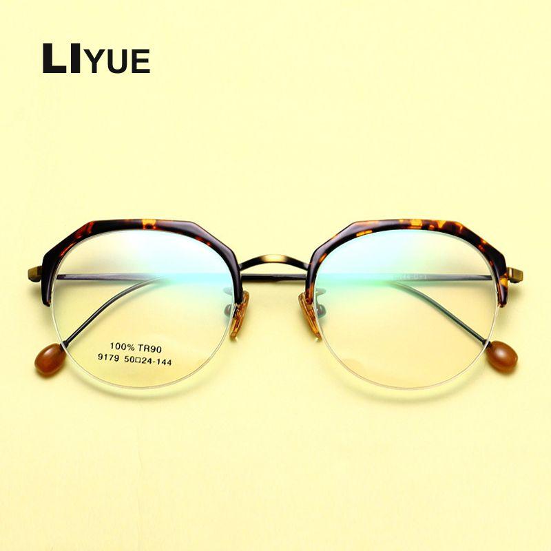 0945d8f1742 New Fashion Eyewear Vintage Metal Optical Half Frame Reading Eye ...