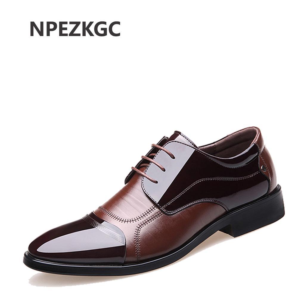 9633330c1001 NPEZKGC Fashion Genuine Leather Men Oxford Shoes