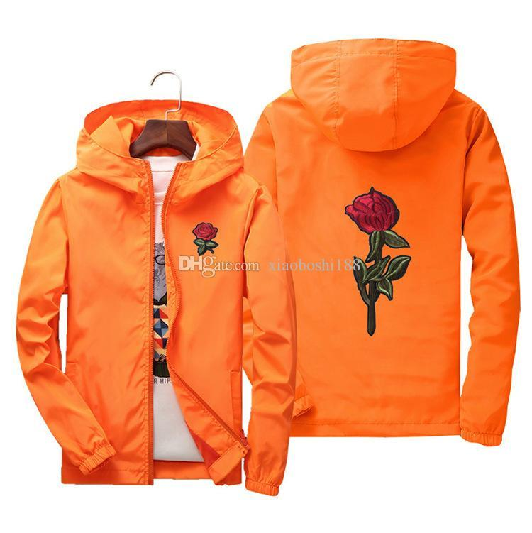 bde2057c8a Rose Jacket Windbreaker Men And Women'S Jacket New Fashion White And Black  Roses Outwear Coat Coats And Jackets Quilted Jacket From Zhangchengshuo998,  ...
