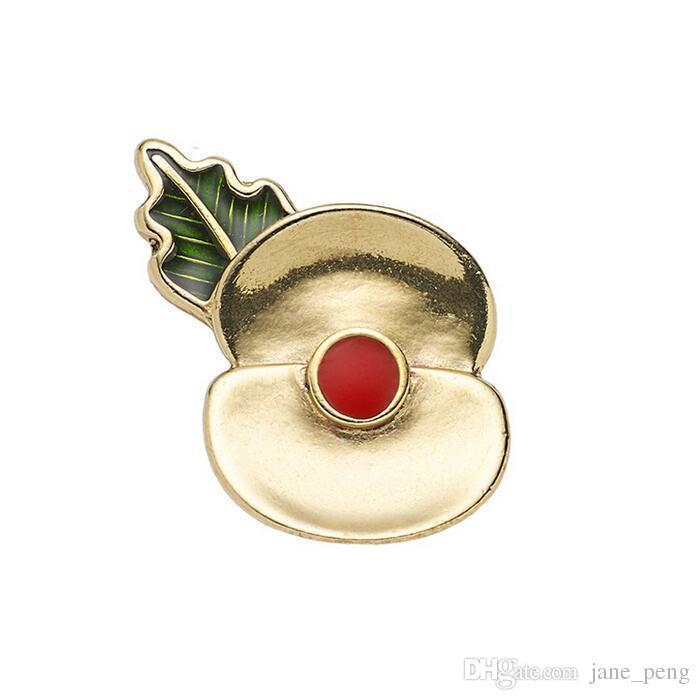 Gold Tone Passchendaele 100 Poppy Floral Brooch Pins For Women Men ... 7cd001ba879e