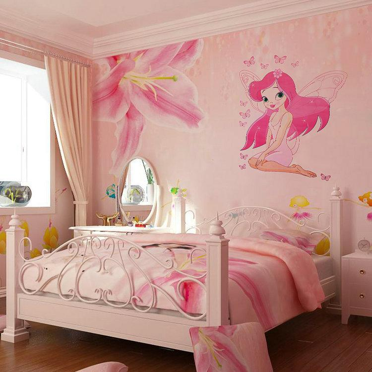 jklong beautiful fairy princess butterly decals art mural wall