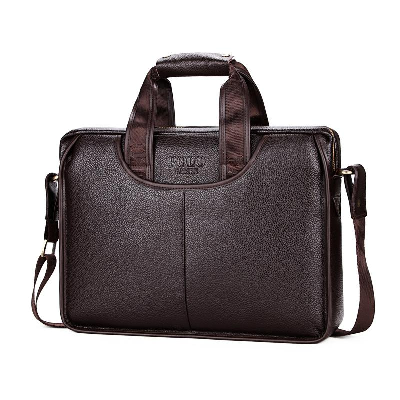 2019 POLO Classic Design Large Size Leather Briefcases Men Casual Business  Man Bag Office Briefcase Bags Laptop Handbag L147 Brief Case Mens Leather  Bags ... 062eadd77cc34