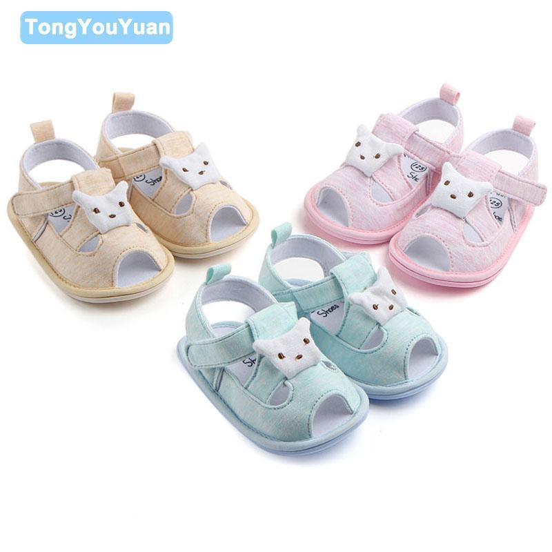 New Design Baby Girl Boy Sandals Cute Dog Pattern With Solid Soft TPR Sole Toddler Summer Baby Shoes For Walking 0-15 Months