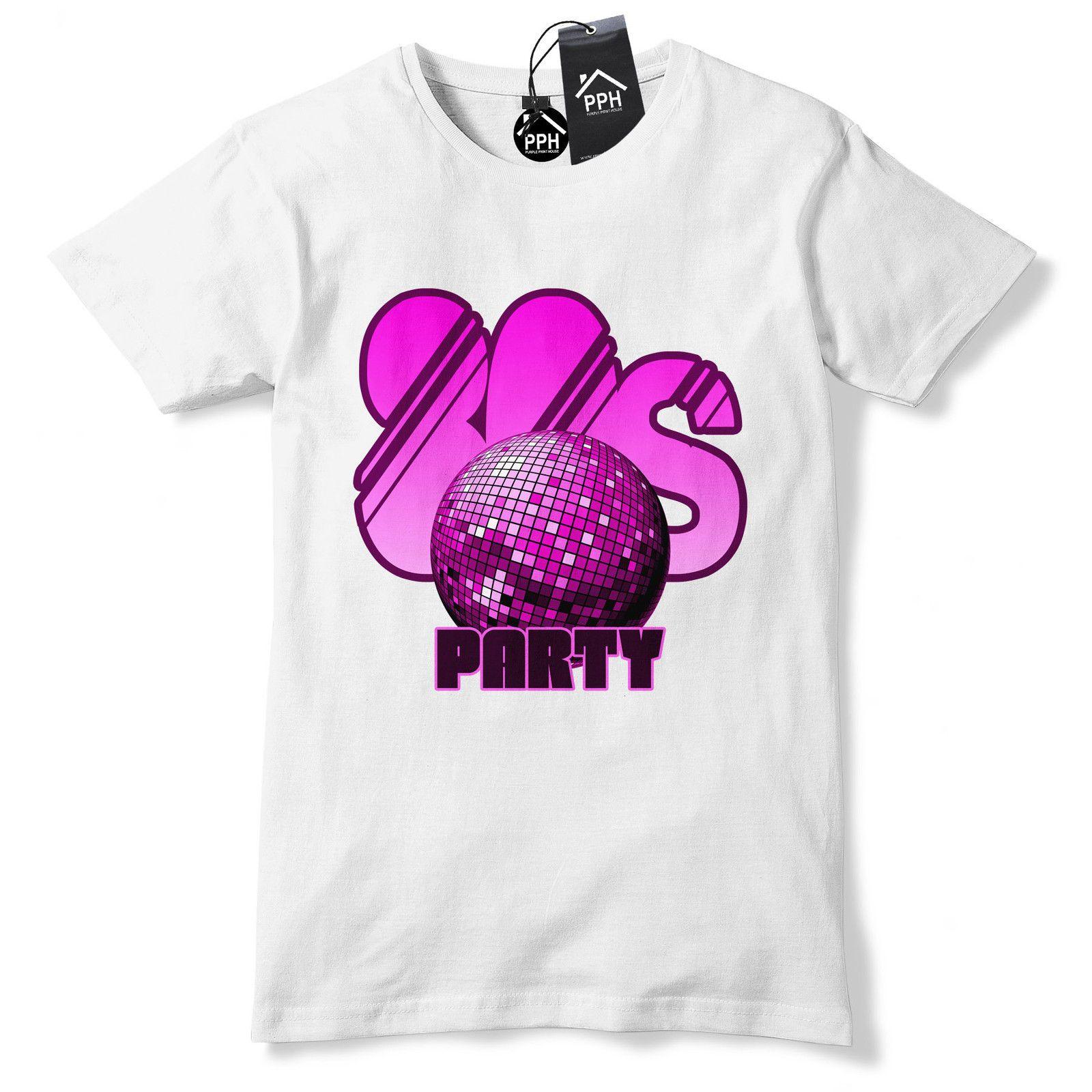 80s Disco Ball Party T Shirt Neon Punk Retro Fancy Dress Tshirt Tee