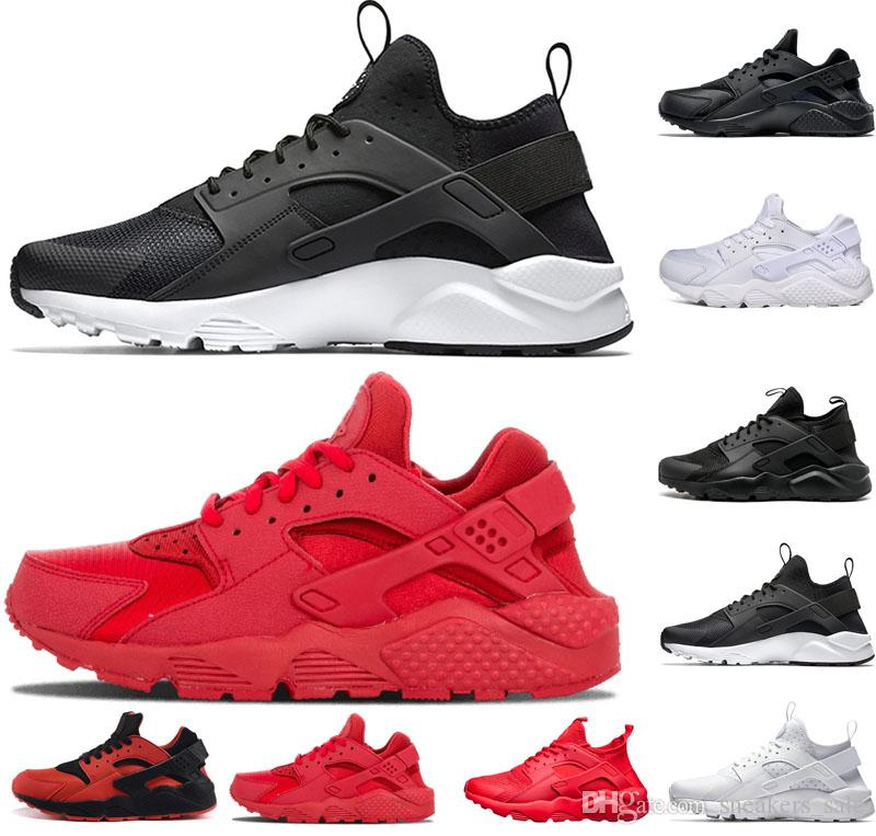 5d02d9e577cc5 Nike Air Huarache Shoes Huarache 4.0 1.0 Clásico Triple Blanco Negro Gris  Oro Rojo Hombres Mujeres Huarache Zapatos Huaraches Zapatillas Deportivas  ...