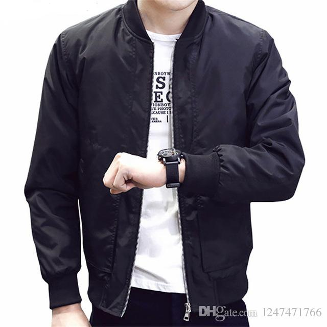 a8c197e0657a5 Men's Jacket 2018 Spring Autumn Bomber Jackets Male Clothes Youth ...