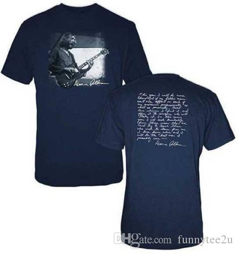 23e436107 Duane Allman Quote T-Shirt SM, MD, LG, XL, XXL New Allman Brothers Tees  Shirt Men Leisure Custom Short Sleeve Boyfriend's Big Size Family Ts Men T  Shirt T ...