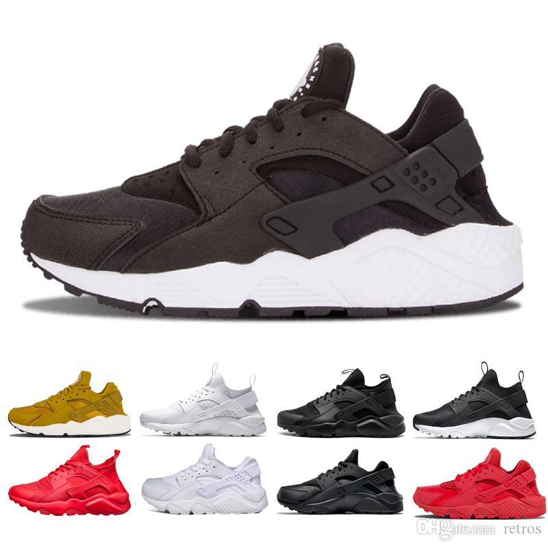 0c15b8f65b054 New Air Huarache 1.0 4.0 Running Shoes For Men Women Triple White ...