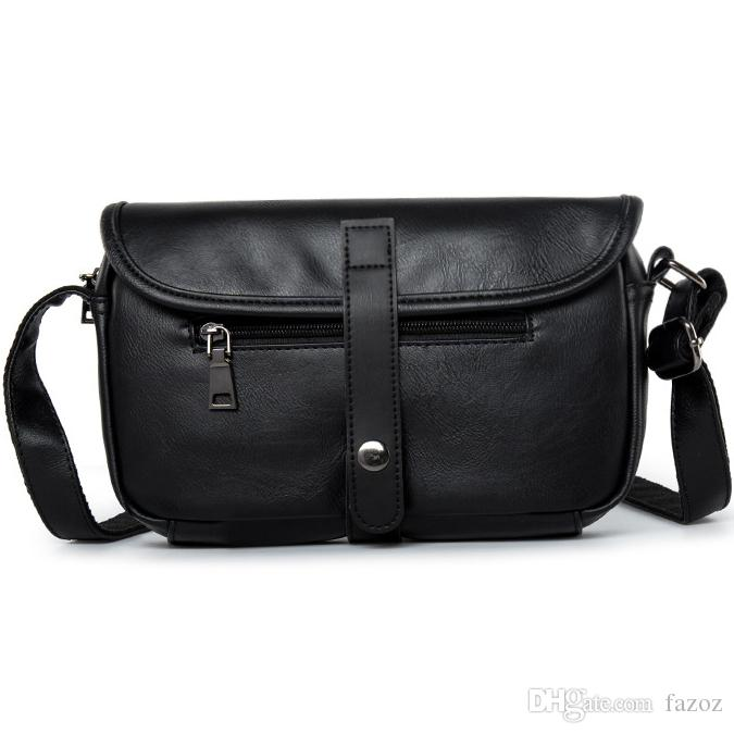 621785f6be New Travel Casual Horizontal PU Leather Shoulder Pack Simple Fashion ...