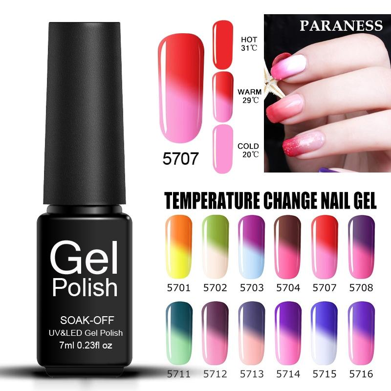 Paraness 3D Nail Design Chameleon Color Gel Polish Tips Soak Off ...