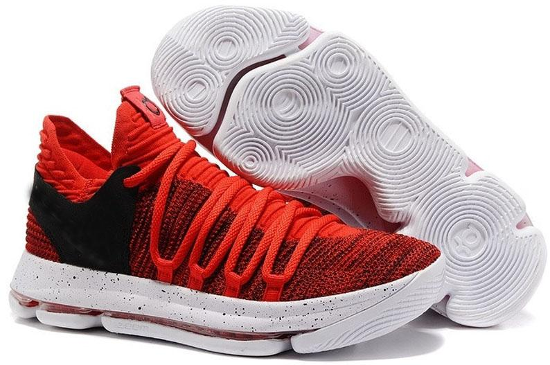 Wholesale 2019 New KD 10 X Oreo Be Cheap True Basketball Shoes for Kevin Durant Finals PE University Red Mid Cut Sports Sneakers