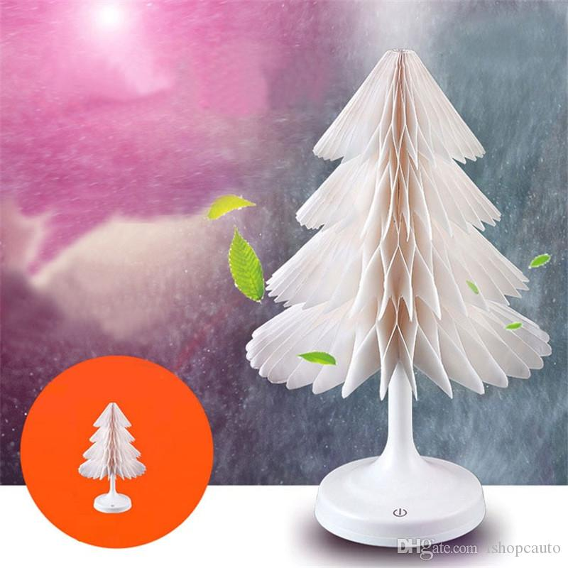 Creative Gifts Strange Christmas Colorful Night light Mini Touch LED Desk lamp USB Charging Xmas Tree Lights , Support Drop Ship